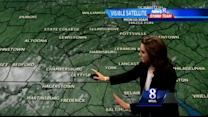 Scattered showers, thunderstorms possible tomorrow