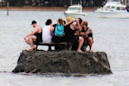 Creative people build mini-island to dodge NYE alcohol ban
