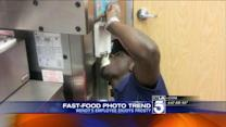 Wendy`s Employee Eats Frosty Straight from Spout
