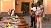Italy's final farewell to migrant shipwreck victims