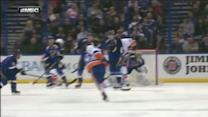Andrew MacDonald blasts home the one-timer