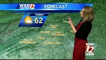 Low 60's with possible showers in the Triad