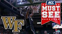 Wake Forest's Codi Miller-McIntyre Alley-Oop To Travis McKie | ACC Must See Moment