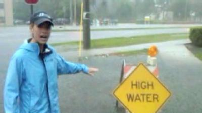 Tory Dunnan Reports From Flooded Boca Street