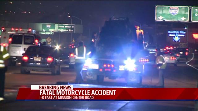 Motorcyclist Dies In Fiery Collision On I-8