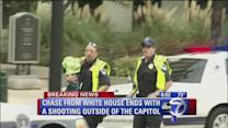 Chase from White House ends with shooting at Capitol