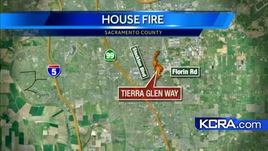 Propane tank sparks house fire in Sacramento County