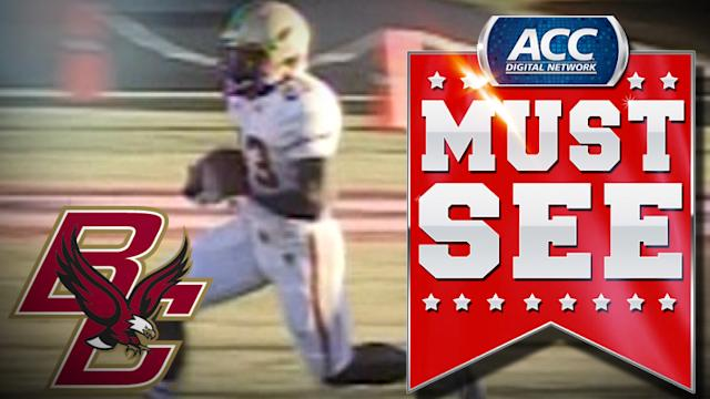 BC's Myles Willis Returns Kickoff 98 Yards for TD | ACC Must See Moment