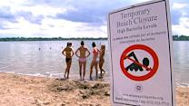 Beachgoers worried over E. coli scare