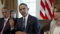 President Presses Syrian Case in Cabinet Room