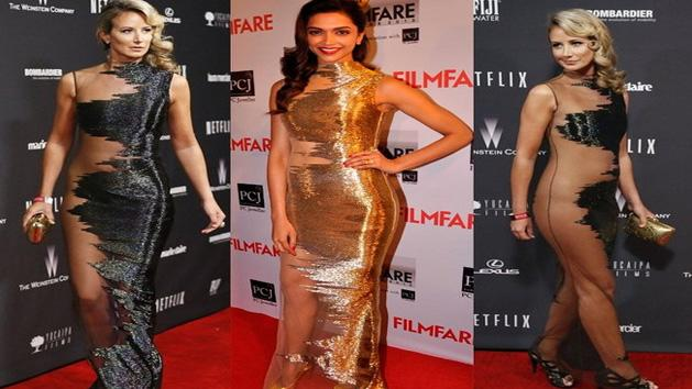 Filmfare 2014 Deepika Padukone Copies Lady Victoria Herveys Golden Globes Look
