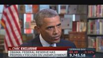 Obama: Fed properly focused on unemployment