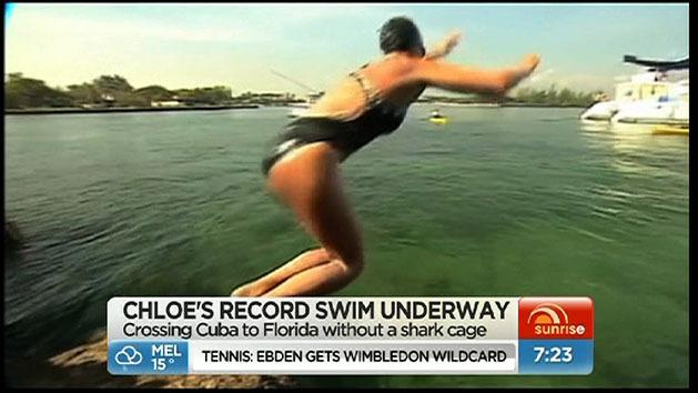 McCardel begins epic swim