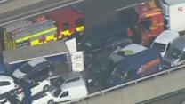 100 vehicles in major UK pile-up