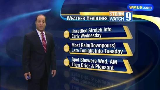 Unsettled weather into Wednesday