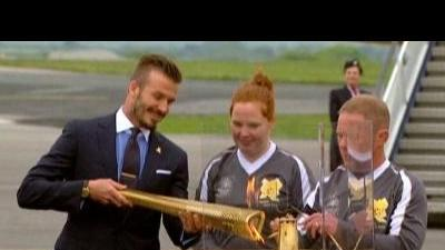 Olympic flame arrives on British soil