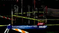 Surveillance image offers clue in playground fire