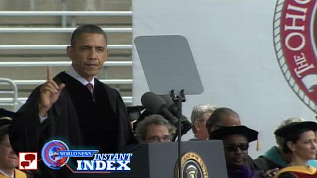 Instant Index: President Obama Speaks at Ohio State Commencement