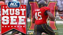 Maryland's Brandon Ross Takes Screen Pass 77 Yards | ACC Must See Moment
