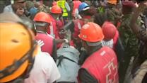 Six days trapped, Kenyan woman freed from collapsed building