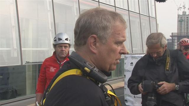 Royal high-ness: British prince abseils down the Shard