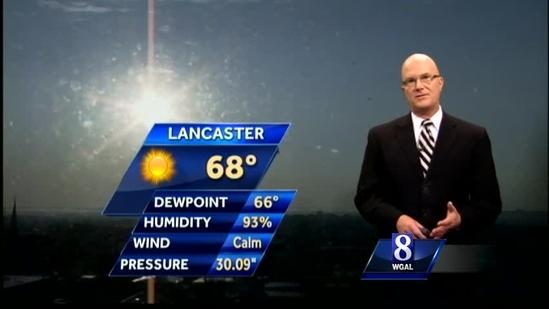 Expect temps near 90 today; storms possible