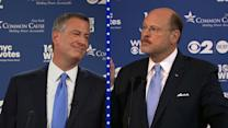 Tempers flare in NYC mayoral debate