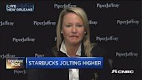Starbucks jolts to new all-time highs