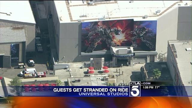 10 Left Stranded on Universal Studios` Tranformers Ride