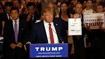 Donald Trump pledges to the Republican Party, jabs at Jeb, and praises Kanye West and Tom Brady