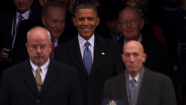 First family arrives at inauguration 2013