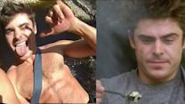 Zac Efron Shirtless & Eating Worms!