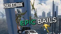 Epic Bails in ScreamRide - Gameplay