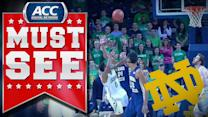 Notre Dame's Eric Atkins Makes Unbelievable Shot | ACC Must See Moment