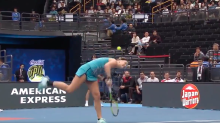 Tennis player loses match after serving the ball off her own head on match point
