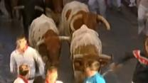Raw: Running With the Bulls in Spain