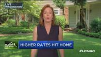 Higher rates hit home