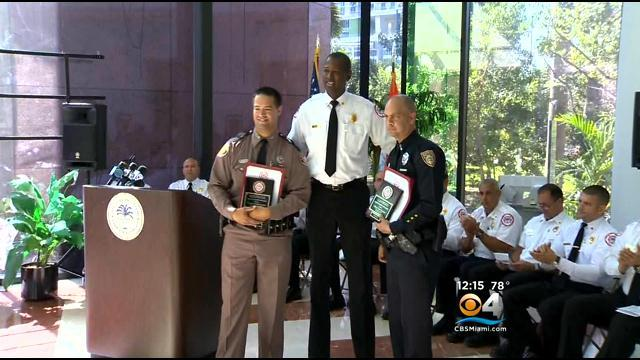 FHP Trooper, Miami Beach Officer Honored For Life Saving Effort