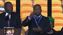 Alleged fake sign language interpreter at Mandela's memorial