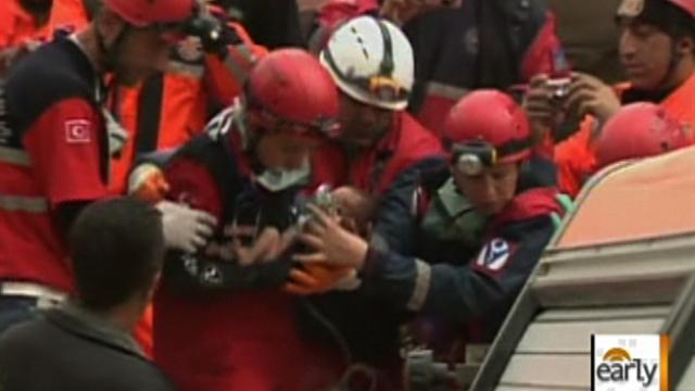 Dramatic rescue of infant from Turkey rubble