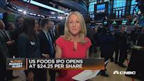 US Foods IPO opens at $24.25 per share