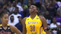 Nneka Ogwumike and Candace Parker collide during celebration