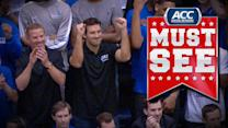 Celebrities Come Out to Watch UNC vs Duke Game | ACC Must See Moment