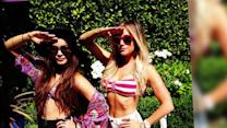 Vanessa Hudgens and Ashley Tisdale Pose in Bikini Tops at a BBQ