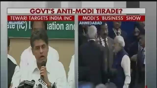 I&B Minister Manish Tewari slams India Inc for eulogising Narendra Modi