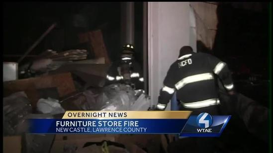 Fire spreads to New Castle furniture store