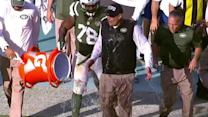 New York Jets head coach Rex Ryan takes Gatorade bath