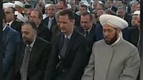Raw: Assad Attends Eid Prayers