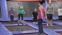 Jump into fitness with trampoline workout