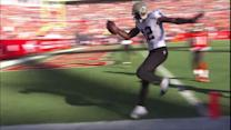 New Orleans Saints quarterback Drew Brees 36-yard touchdown pass to Marques Colston